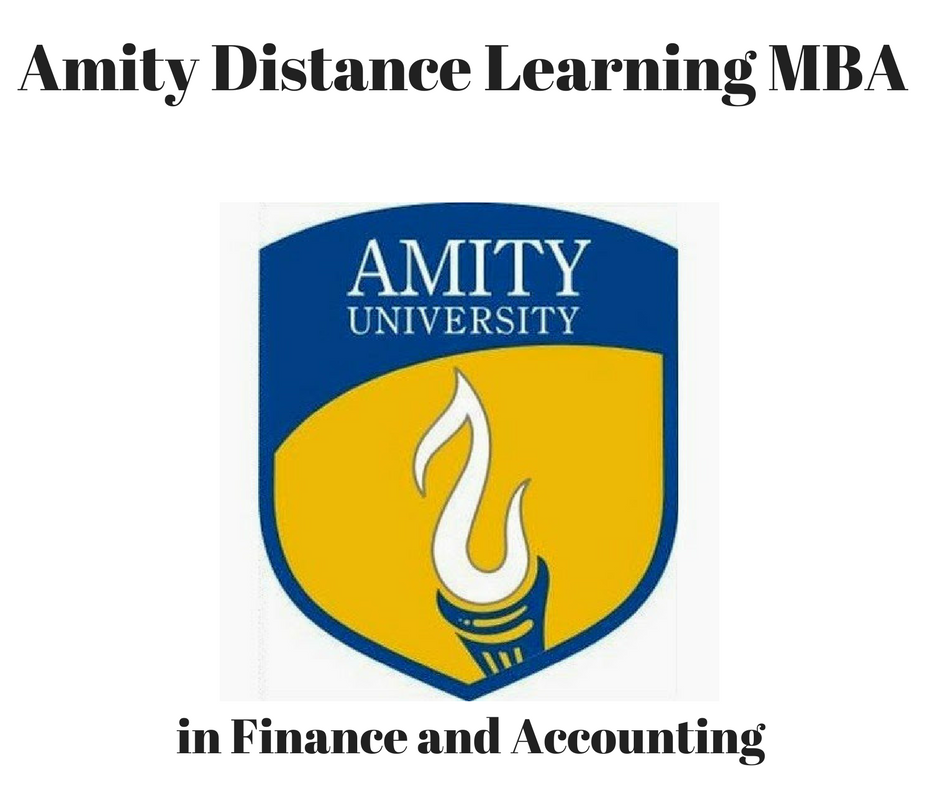 MBA in Finance and Accounting from Amity Distance Learning